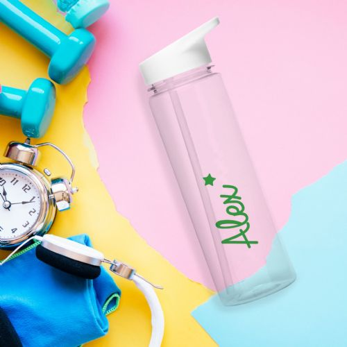 Personalised Green Star Love Island Water Bottle